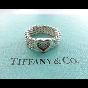 Authentic Heart mesh Tiffany ring